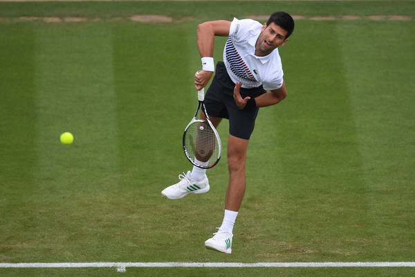 The Serb's getting some matches under his belt ahead of Wimbledon in Eastbourne (Photo by Mike Hewitt / Getty)