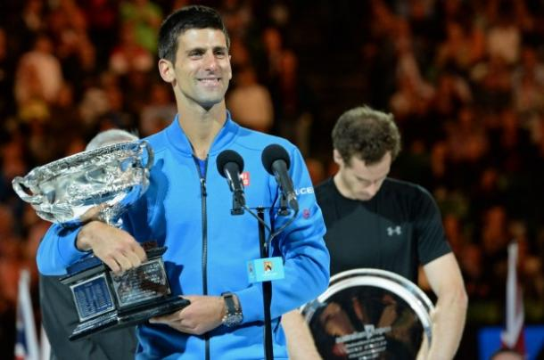 Djokovic has enjoyed a near total monopoly over Murray in recent years, winning 5 of their last six finals, including in Paris, pictured. However, Murray made it two from seven today.  (Source: SMH.com)