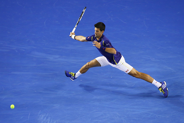 Novak Djokovic in action during the second round of the Aussi Open. | Photo: Getty Images Sport/Mark Kolbe