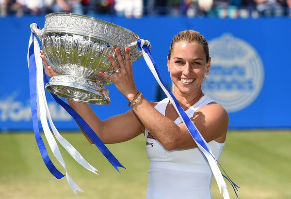 Cibulkova won her first grass court title in Eastbourne last year (Photo by Tom Dulat / Getty)