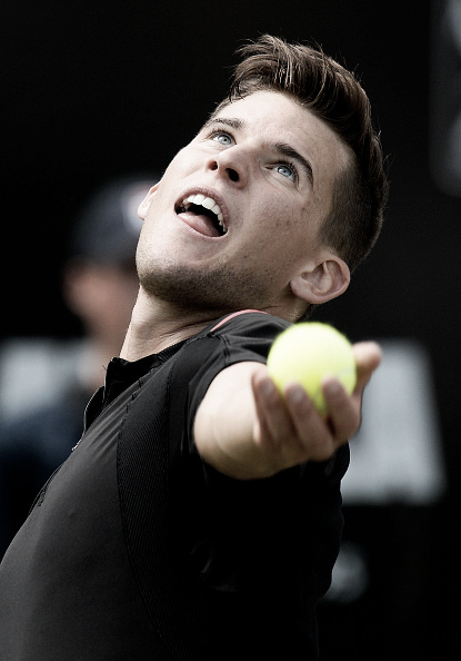 Dominic Thiem is showing an increasing ability to serve and volley on on grass. (Photo: Getty Images)