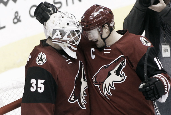 Louis Domingue hopes to be celebrating a victory against the Colorado Avalanche. Source: Ralph Freso/Getty Images North America)