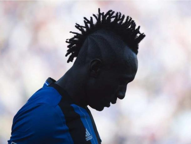 The Impact's frustration is shown vividly on Dominic Oduro's face on Saturday at Stade Saputo. Photo provided by Canadian Press,