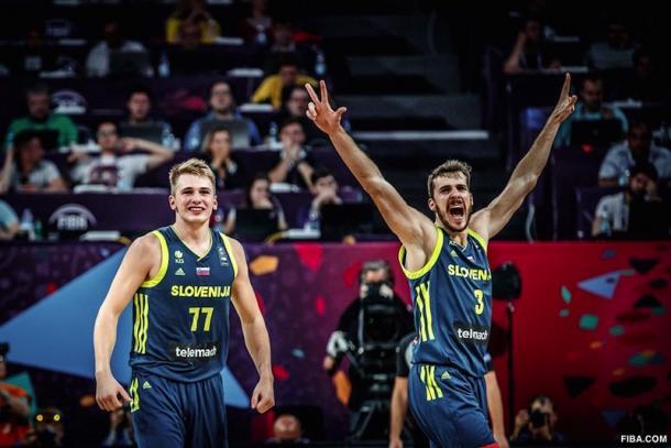 Goran (à droite) et Luka Doncic (à gauche) s'affronteront peut-être sur les parquets NBA la saison prochaine (Source: Fiba.com)