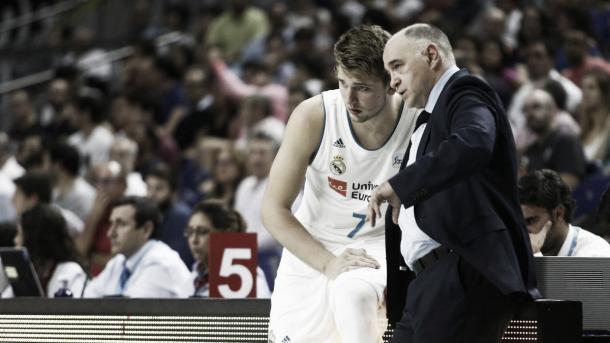 Luka Doncic con Pablo Laso | ACB Photo