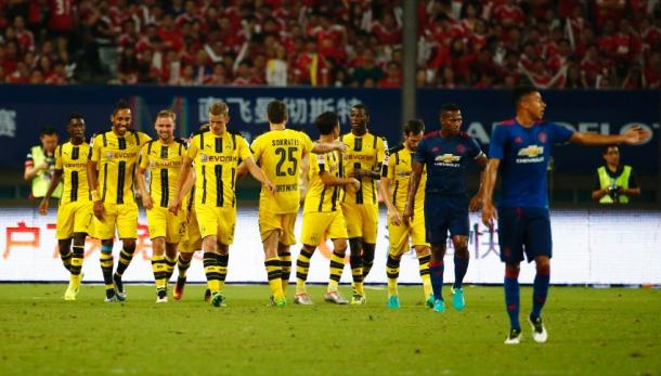 Dortmund beat Man Utd 4-1 in China last week (photo; Getty)