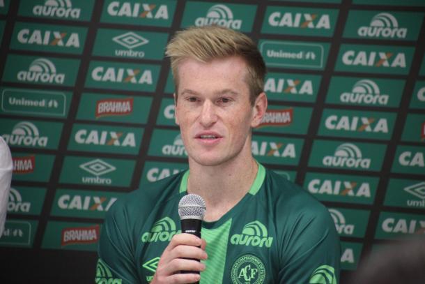 Grolli, joia da base, pertence ao Cruzeiro e foi emprestado ao clube que o formou. (Sirli Freitas/Chapecoense)