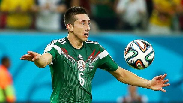 Héctor Herrera will need to continue his stellar play from game one against Uruguay on Thursday against Jamaica at the Rose Bowl. Photo provided by Getty Images.