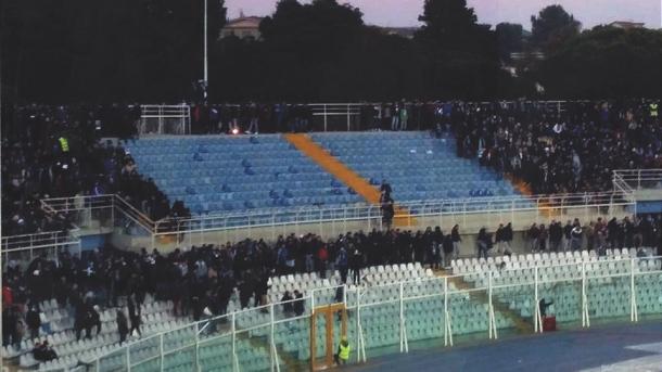 I tifosi abbandonano la curva (Fonte foto: Pescara Sport 24)