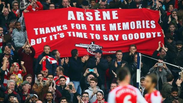 Arsenal fans show their frustration. Source: ESPN