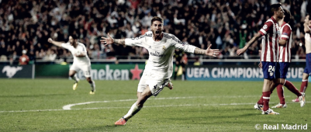 Sergio Ramos hizo el empate a uno en la final de Lisboa | Foto: Real Madrid