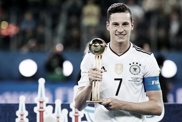 Meia Julian Draxler foi eleito o melhor jogador da Copa das Confederações (Foto: Alexander Demianchuk/TASS via Getty Images)