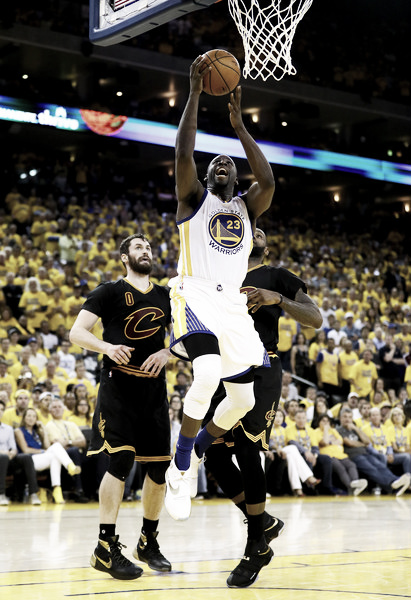 Draymond Green had a near triple double in game seven. Photo: Ezra Shaw/Getty Images