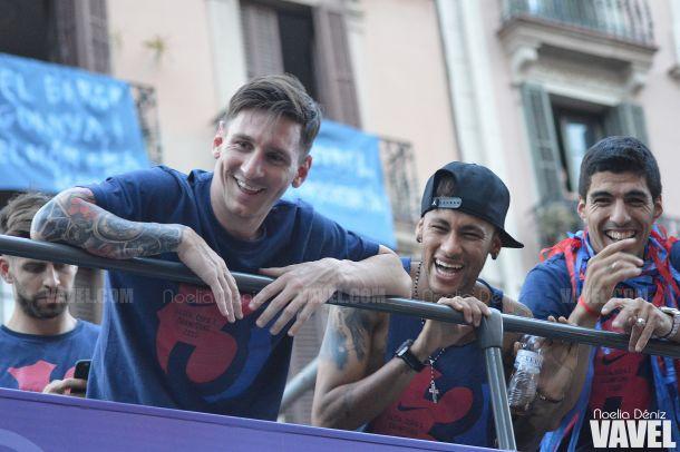 Messi, Luis Suárez y Neymar, artífices de un triplete para la historia. FOTO: Noelia Déniz