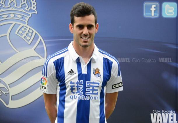 Juanmi, en su presentación como jugador de la Real. Foto: Gio Batista / VAVEL