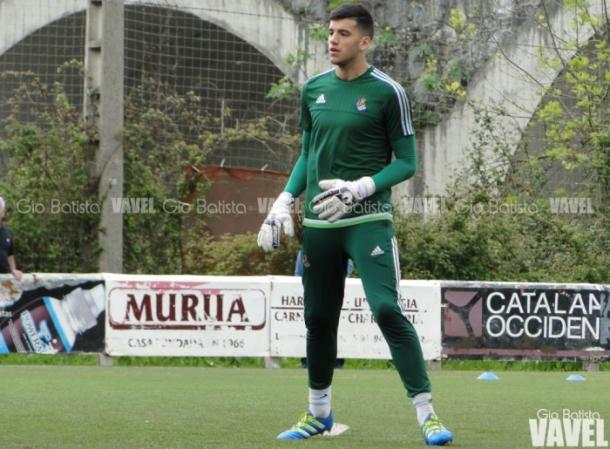 Rulli, en una sesión de entrenamiento. Real. Foto: Gio Batista / VAVEL