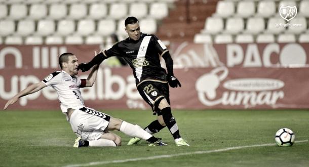 Raúl de Tomás en la jugada del gol | Imagen: www.laliga.es