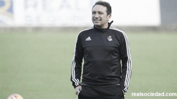 Eusebio Sacristán, entrenador de la Real Sociedad | Foto: Real Sociedad