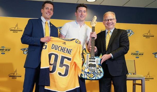 Duchene presentado en Nashville   NHLPA.com