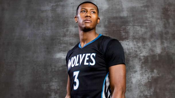 According to NBA.com, in a survey of 38 NBA rookies, Kris Dunn was picked to win Rookie of the Year. Photo: Nick Laham/Getty Images