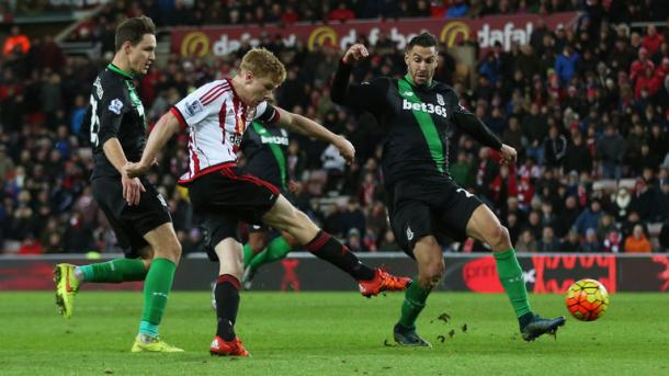 Sunderland's most recent win came at home to Stoke City on Saturday, with Duncan Watmore wrapping things up as they won by a comfortable 2-0 scoreline against the 10 men. (Photo: Sky Sports)