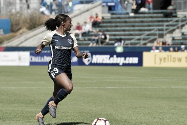 Crystal Dunn with the North Carolina Courage | Photo: Grant Halverson/isiphotos.com