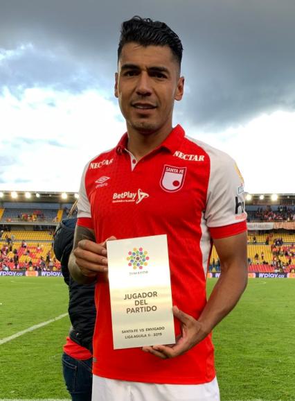 Jefferson Duque. Delantero de Independiente Santa Fe. Imagen: @SantaFe.