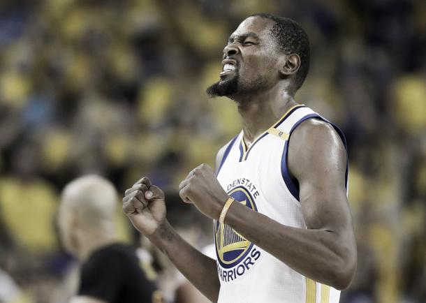 Kevin Durant was named Finals MVP. Photo: Marcio Jose Sanches/AP Photo.