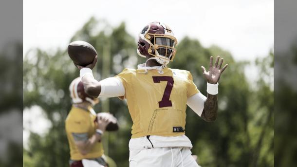 Dwayne Haskins fue la primera elección de Washington en el draft 2019 (foto Redskins.com)