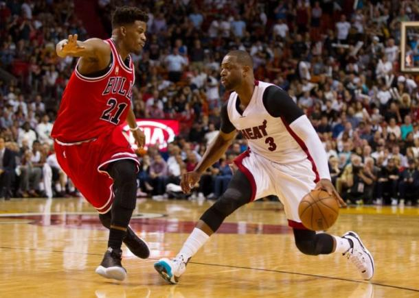 Dwyane Wade, Rajon Rondo and Jimmy Butler. Will those names lift the Chicago Bulls to a playoff spot this upcoming season? Photo: Steve Mitchell/USA TODAY Sports