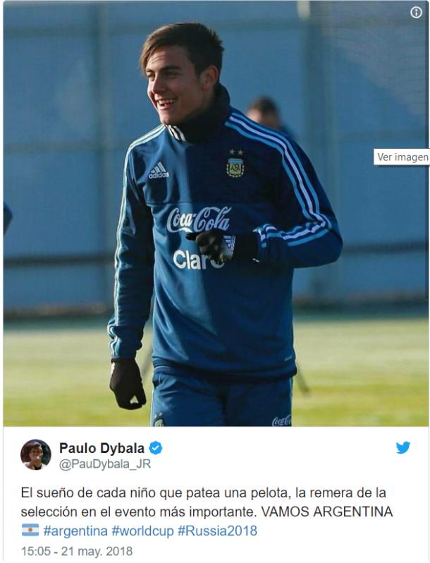 Dybala, feliz por estar en la lista final.