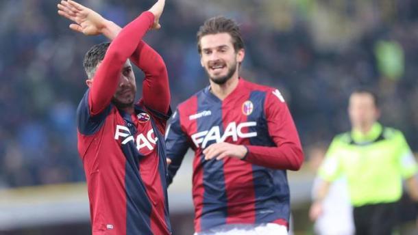 L'esultanza di Dzemaili, dopo il gol al Torino - Foto Tuttosport.