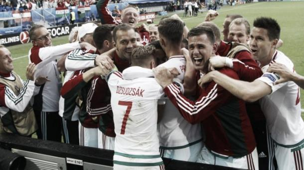 Hungary will be hoping for a repeat of the scenes in their first game (photo: Getty)