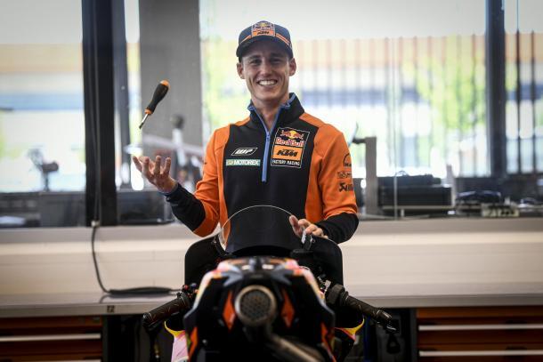 Pol Espargaró durante el pre-evento de KTM para este Gran Premio. Imagen: MotoGP