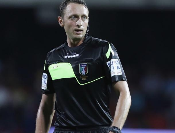 Rosario Abisso durante un partido de la Serie A // Fuente: AS Roma