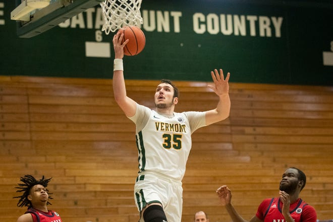 Davis looks to send Vermont to the NCAA's for the first time since 2018/Photo; Brian Jenkins/Burlington Free Pass