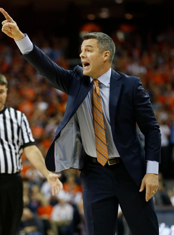 Bennett directs his players during Virginia's win/Photo: Steve Helber/Associated Press