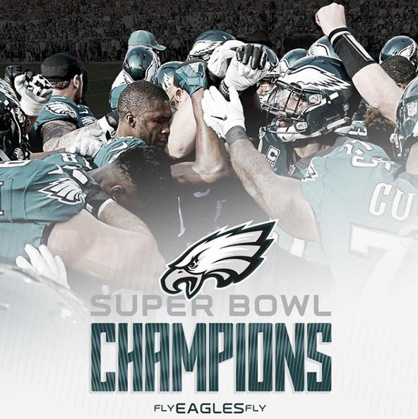 O Philadelphia Eagles conquistou seu primeiro Super Bowl em fevereiro, contra o New England Patriots. Foto: Reprodução/Instagram/Philadelphiaeagles