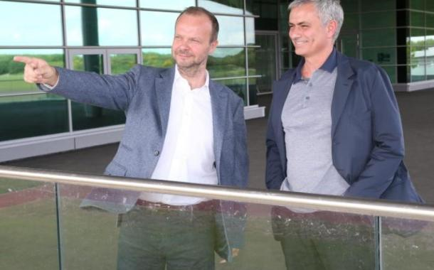 Ed Woodward welcomed Jose Mourinho around the AON training complex on his first day (Photo: Getty Images)