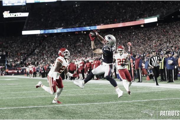 Edelman anotó su primer TD de la temporada | Foto: Patriots.com