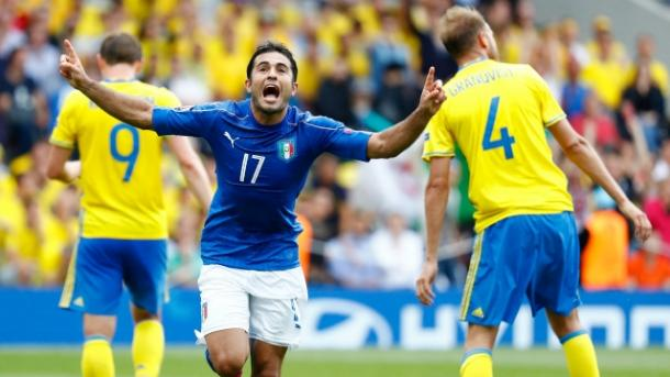 Eder celebrates his sensational late winner against Sweden | Photo: dnaindia