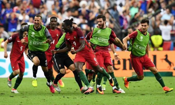 La gioia nella finale con la Francia