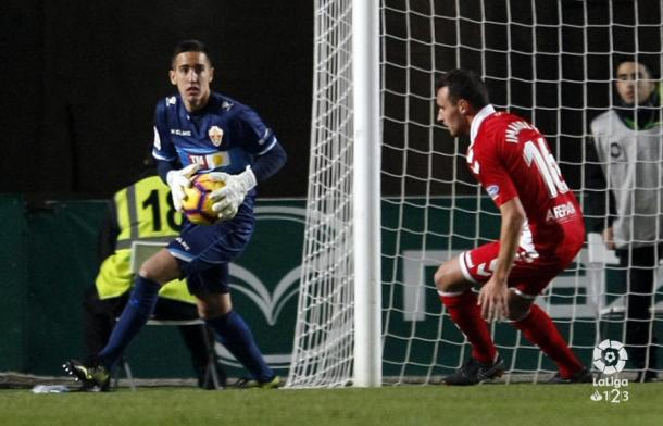 Edgar Badía durante un encuentro | Fotografía: La Liga