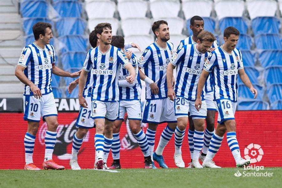 Los jugadores de la Real Sociedad celebran un gol | LaLiga Santander