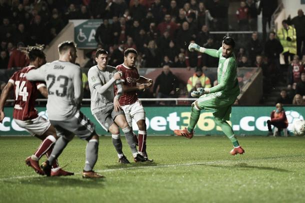 El momento de gol que sentenció la historia en Bristol | Foto: EFL
