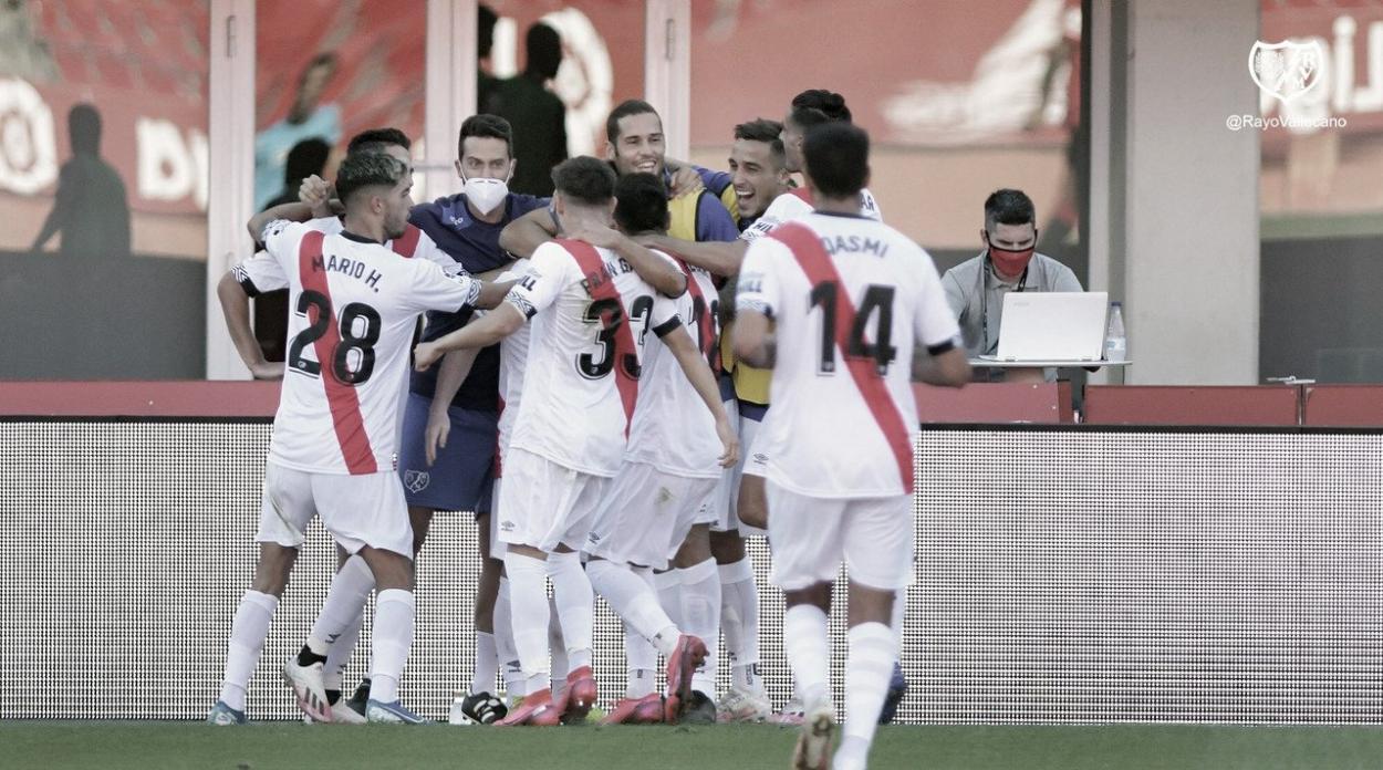 Los jugadores del Rayo celebrando un gol | Foto: Rayo