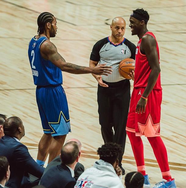 Kawhi Leonard y Pascal Siakam durante el All-Star Game | Foto: Raptors.com