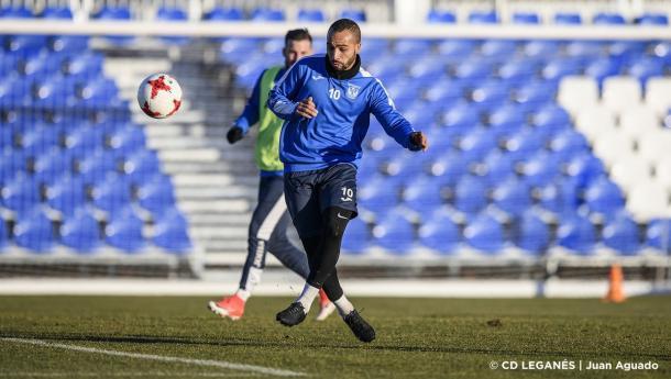 El Zhar durante un entrenamiento con el Leganés. / Foto: CD Leganés | Juan Aguado