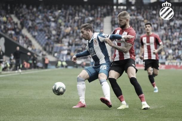 Adrian Embarba, desequilibrio perico. FOTO: RCD Espanyol