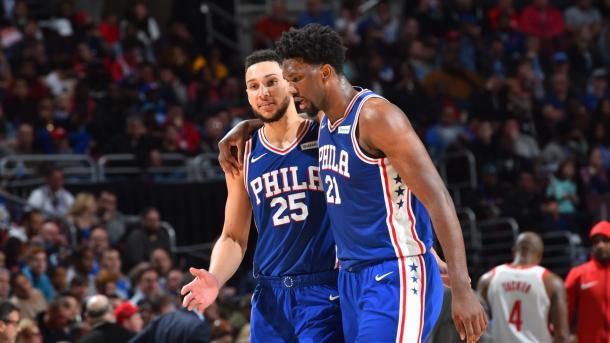 Embiid y Simmons, los máximos responsables de que Phila esté en la postemporada / NBA.com
